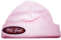 "BONNIE & CHILDRENS SPORTSWEAR Pink Thermal Hat w/Emblem ""My Girl"" Toddler"