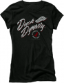 CLUB RED Ladies Duck Dynasty S/S Fitted Tshirt Fancy Flight Black Sm