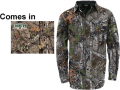WALLS INDUSTRIES INC Cape Back Long Sleeve Shirt Mossy Oak Country Medium