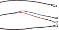 FIRST STRING PRODUCTS LLC First Draw Genesis String/Cable Set Red/Blue