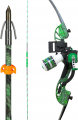"AMS BOWFISHING 17 AMS Water Moc Bow Kit Green Accent Right Hand 28"" 40#"