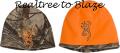 BROWNING Browning All Season Reversible Beanie Realtree Xtra/Orange