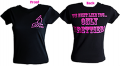 "JUST FOR DOE'S Ladies ""We Hunt Like You Only Prettier"" Black Tshirt Xlarge"
