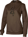 SIGNATURE PRODUCTS GROUP Womens Buckmark Camo Sweatshirt Chocolate Large