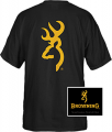 SIGNATURE PRODUCTS GROUP Browning Buckmark Tshirt Large Black / Gold