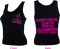 "JUST FOR DOE'S Ladies ""We Hunt Like You Only Prettier"" Black Tank Top Large"