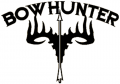 WESTERN RECREATION IND Bowhunter Skull Decal 5x6