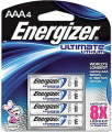 """ENERGIZER BATTERY INC Energizer Ultimate Lithium """"AAA"""" Battery"""