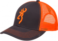 BROWNING Browning Flashback Neon Cap Charcoal/Neon Orange w/Buckmark