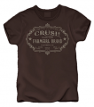 CLUB RED Crush Farm Girl Brand Tshirt Chocolate Small