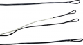 FIRST STRING PRODUCTS LLC First Draw Genesis String/Cable Set White/Black