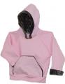 BONNIE & CHILDRENS SPORTSWEAR Hooded Pink Sweatshirt Mossy Oak Breakup Trim 18-24 Months