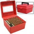 Dlx Rifle Ammo Case 100Rd - Red