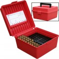 Dlx Mag Rifle Ammo Case 100Rd - Red