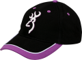 BROWNING Browning Womens Cap Purple Trim w/Buckmark