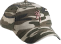 BROWNING Browning Woodland Camo Hat w/Pink Buckmark