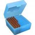 Sml Rifle Ammo Box 100Rd - Clr Blue