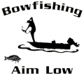 WESTERN RECREATION IND Bowfishing Decal White 5.5x6