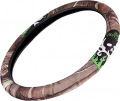 SIGNATURE PRODUCTS GROUP Bone Collector 2-Grip Steering Wheel Cover Realtree AP