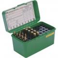 Dlx Lge Rifle Ammo Case 50Rd - Green