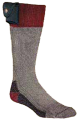 NORDIC GEAR INC Lectra Sox Hiker Boot Style Grey/Maroon Large/Xlarge