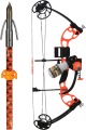 AMS BOWFISHING 17 AMS Juice Bow Kit w/Orange Accent LH 50# w/Muck Buster