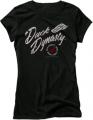 CLUB RED Ladies Duck Dynasty S/S Fitted Tshirt Fancy Flight Black Sm