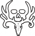 SIGNATURE PRODUCTS GROUP Bone Collector Official White Decal