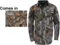 WALLS INDUSTRIES INC Cape Back Long Sleeve Shirt Mossy Oak Country Medium