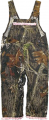 BONNIE & CHILDRENS SPORTSWEAR Girls Long Overalls Mossy Oak Breakup w/Pink Trim 12 Months