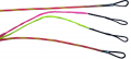 FIRST STRING PRODUCTS LLC First Draw Genesis String/Cable Set Pink/Flo Yellow
