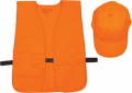 ALLEN CO INC Allen Hat & Vest Combo Orange Medium - Xlarge (OSFA)