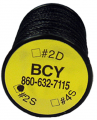 BCY INC #2S Serving .018 Black 100yd Spool