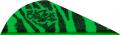 "BOHNING CO LTD Blazer Vanes 2"" Green Tiger"