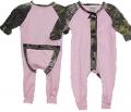 BONNIE & CHILDRENS SPORTSWEAR Pink Union Suit Mossy Oak Breakup Trim 3 Months