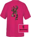SIGNATURE PRODUCTS GROUP Browning Casual Tshirt Fushia w/Camo Buckmark Medium