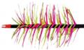 TRUEFLIGHT MFG CO INC Spiral Wrap Red Full Length RW Feathers