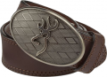 "SIGNATURE PRODUCTS GROUP Mens Browning 38"" Oval Buckmark Buckle w/Brown Leather Belt"
