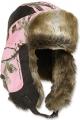 OUTDOOR CAP COMPANY INC Fleece Trapper Cap Realtree APC Pink