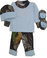 BONNIE & CHILDRENS SPORTSWEAR Blue L/S T/Pant/Hat/Booties Mossy Oak in Poly Bag Newborn