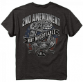 BUCK WEAR INC NRA 2nd Amendment Shirt Dark Heather Gray Xlarge