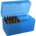 Ammo Box - 50 Rd Flip Top 375 Rem Blu
