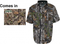 WALLS INDUSTRIES INC Cape Back Short Sleeve Shirt Mossy Oak Country Large