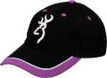 BROWNING Browning Womens Cap Purple Trim w/Buckmark