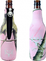 ABSOLUTE EYEWEAR SOLUTIONS LLC Bone Collector Bottle Coozie Pink w/Silver Logo