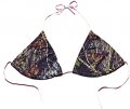 WEBER CAMO LEATHER GOODS Bikini Top Breakup Camo w/Pink Trim Large
