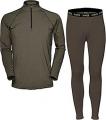 HUMAN ENERGY CONCEALMENT SYS Hecs Base Layer Pants & Shirt Green 2Xlarge
