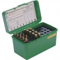 Dlx Lge Rifle Ammo Case 50Rd - Green