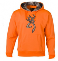 BROWNING Browning Hoodie w/RTX Buckmark Blaze Orange Medium