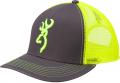 BROWNING Browning Flashback Neon Cap Charcoal/Neon Green w/Buckmark